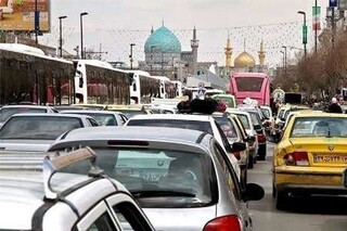ترافیک خیابان های منتهی به حرم مطهر