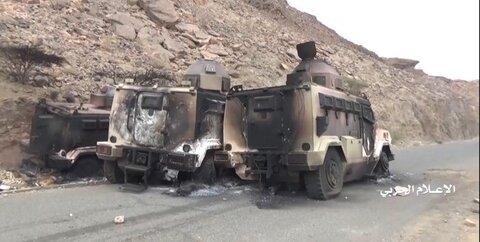 انهدام خودروهای نظامی سعودی