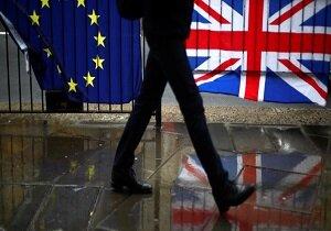 پرچم انگلیس پرچم اتحادیه اروپا