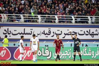 شکست تیم فوتبال پرسپولیس مقابل شهر خودرو مشهد
