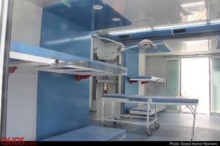 بدرقه کاروان بیمارستان سیاررضوی به اربعین حسینی