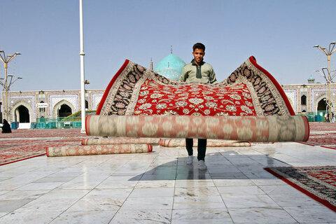 فرش صحن جامع حرم مطهر رضوی