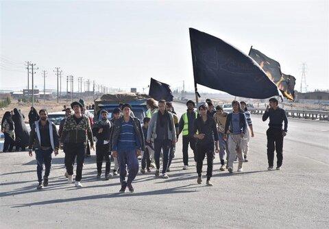 زائران پیاده امام رضا(ع)