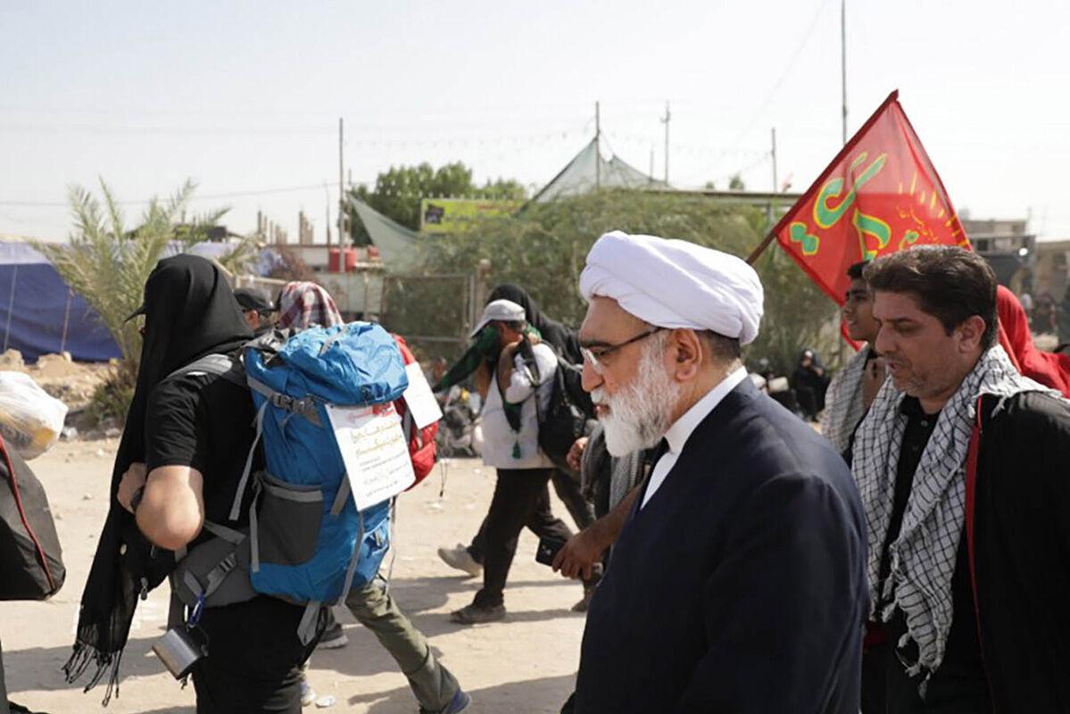 حضور حجت الاسلام مروی،تولیت آستان قدس رضوی در پیاده روی اربعین