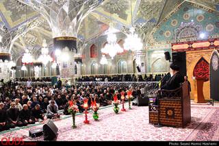 سخنرانی آیت الله علم الهدی دراجتماع عزاداران حسینی در رواق امام خمینی حرم مطهررضوی