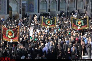 حضورعزاداران اربعین حسینی در حرم مطهر امام رضا علیه السلام