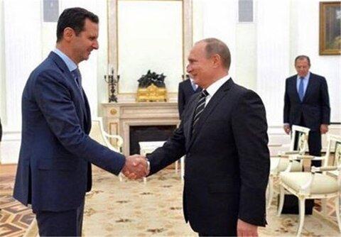 بشار اسد پوتین