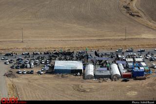 تصاویر هوایی زائرین پیاده در جاده های منتی به مشهد