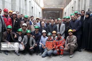 خروج دستگاه حفاری تونل قطار شهری مشهد