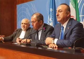 وزرای خارجه ایران، روسیه و ترکیه