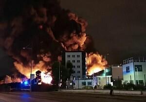 آتش سوزی سالن سیرک در فرانسه