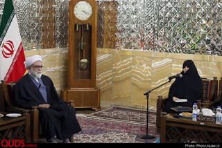 دیدار بانوان برگزیده اولین سوگواره فرهنگی خاتون رضوی با تولیت آستان قدس رضوی