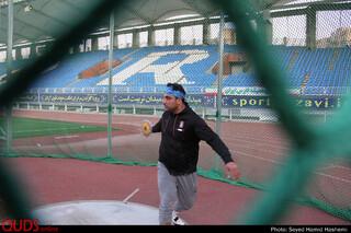 اردوی احسان حدادی قهرمان پرتاب دیسک در ورزشگاه امام رضای مشهد