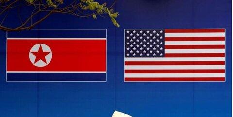 پرچم کره شمالی و آمریکا