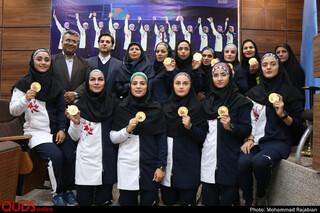 مراسم تجلیل از تیم کبدی بانوان ایران در موسسه تربیت بدنی آستان قدس رضوی