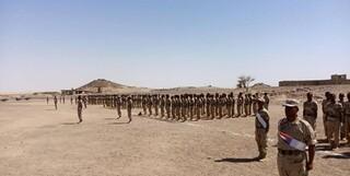 تجمع نظامیان متحد امارات در جنوب یمن