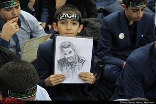 برگزاری مراسم یادبود شهیدسردارسلیمانی در دبیرستان های پسرانه امام رضا علیه السلام مشهد