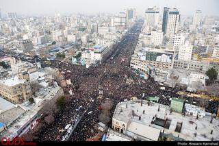 استقبال میلیونی مردم مشهد از پیکر «شهید سپهبد قاسم سلیمانی» و یاران شهیدش(2)