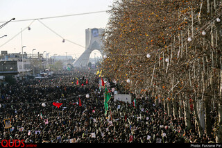 مراسم تشییع سردار سپهبد حاج قاسم سلیمانی _تهران