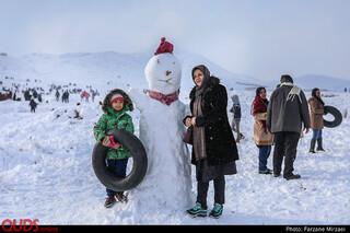 ییلاقات مشهد پس از بارش اولین برف زمستانی