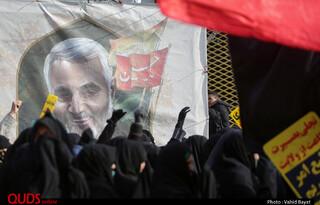 راهپیمایی حمایت از جبهه مقاومت در مشهد