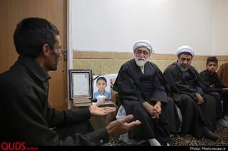 دیدار تولیت آستان قدس با خانواده شهدای سانحه هوایی تهران و حادثه غمبار کرمان
