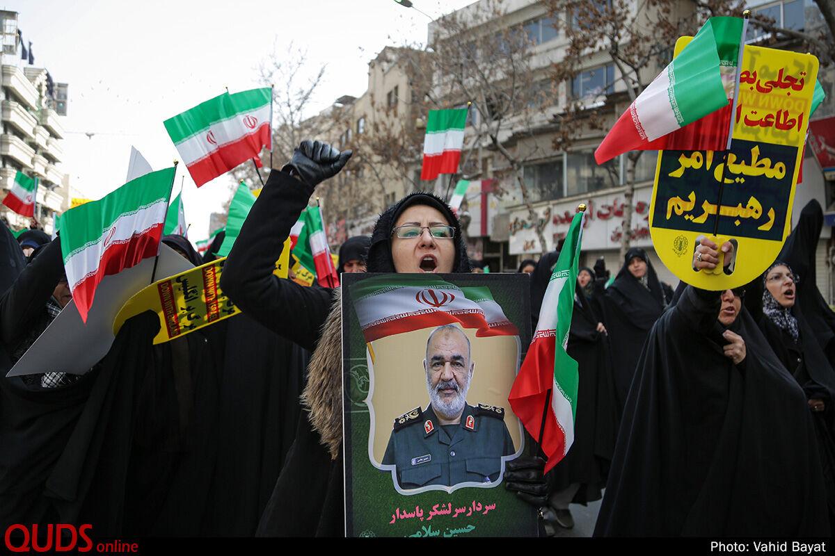 راهپیمایی حمایت از اقتدار و صلابت جمهوری اسلامی ایران در مشهد