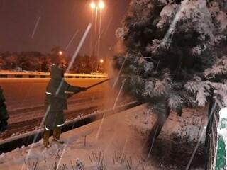 برف روبی کارگران شهرداری