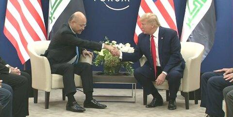 ترامپ و برهم صالح