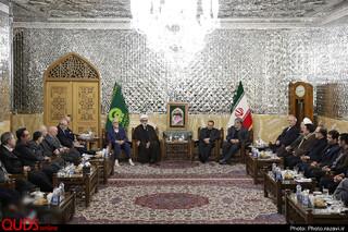 دیدار رئیس، اعضای هیأت رئیسه و رؤسای دانشکدههای دانشگاه علوم پزشکی مشهد با تولیت آستان قدس رضوی