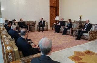 دیدار لاریجانی با اسد