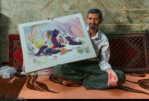 محمود پسران قصابان هنرمند پیشکسوت سوزندوزی