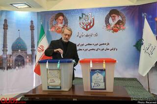 حضور رئیس مجلی در انتخابات
