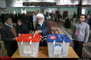 حضور تولیت آستان قدس رضوی در پای صندوق رای