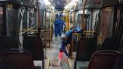 ضد عفونی ۶۰ دستگاه اتوبوس درون شهری بجنورد