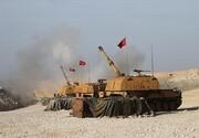 حملات هوایی ترکیه به مراکز فرماندهی ارتش سوریه