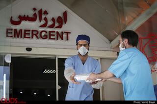 توزیع غذای مهمانسرای حضرت در بیمارستان شریعتی مشهد