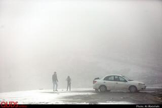 برف بهاری در ییلاقات مشهد