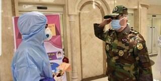 احترام نظامی به پرستاران بخش کرونا