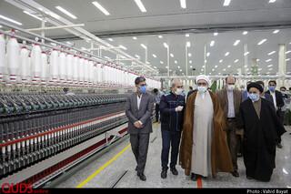 افتتاح سالن تولید نخ های ظریف و شانه شده پنیه ای با حضور تولیت آستان قدس رضوی