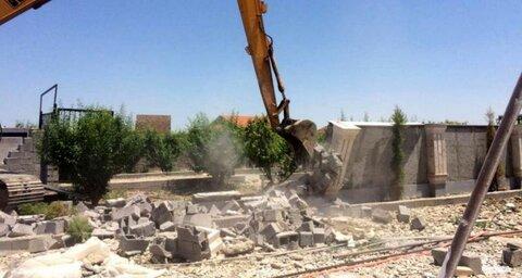 تخریب خانه باغ غیرمجاز