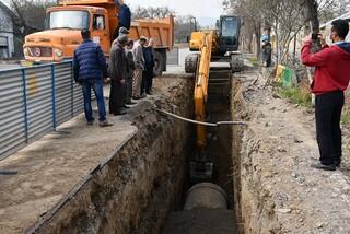 تعویض خطوط انتقال آب- آبرسانی شهری