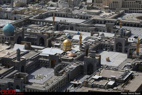 عکس های هوایی از تعطیلی حرم مطهر رضوی در ایام کرونا