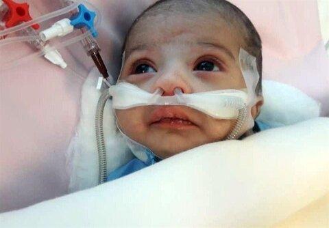 عمل قلب باز کودک ۲۶ روزه