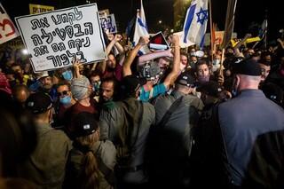 درگیری مخالفان و موافقان نتانیاهو