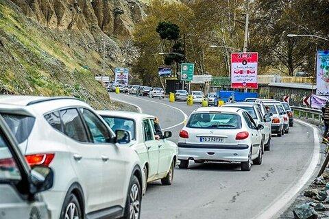 ترافیک در جاده چالوس