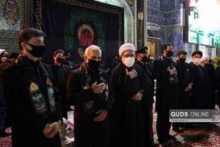 آیین شام غریبان حسینی در حرم مطهر رضوی