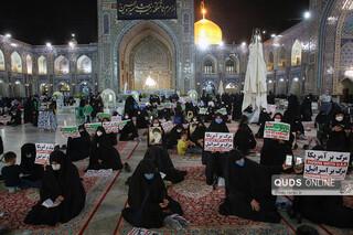 اجتماع مردم مشهد در محکومیت اهانت به ساحت مقدس پیامبر اعظم(ص) در حرم رضوی