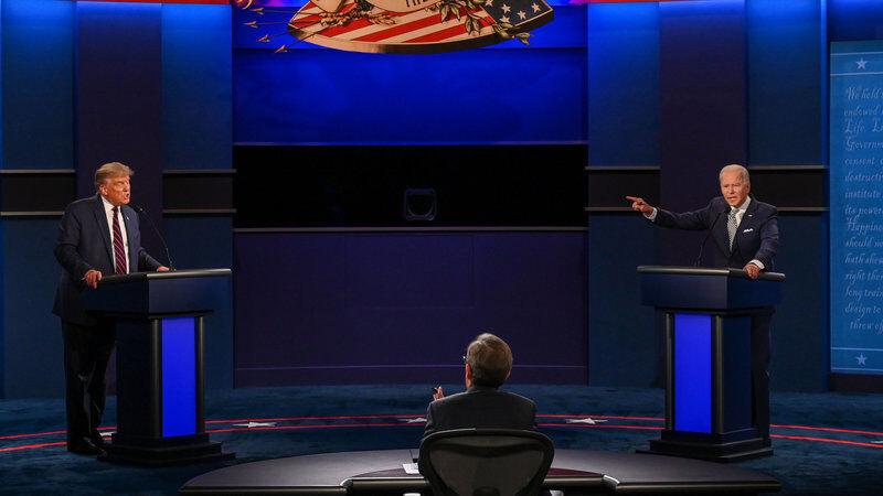 جنگ لفظی ترامپ و بایدن در نخستین دور مناظرات انتخاباتی