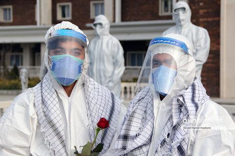 تقدیرازکادردرمان بیمارستان شهیدهاشمی نژادمشهدتوسط بسیجیان حوزه7 حر